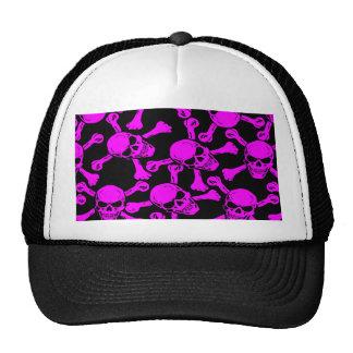 GOTHIC SKULLS CROSSBONES PATTERN HATS