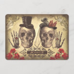 🎃  Gothic Skulls Day of The Dead Save the Date Cards
