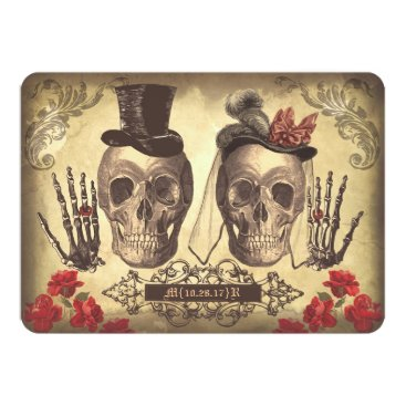 jinaiji Gothic Skulls Day of The Dead Save the Date Cards