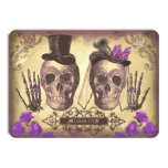 """Gothic Skulls Day of The Dead Save the Date Cards 4.5"""" X 6.25"""" Invitation Card"""