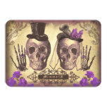 Gothic Skulls Day of The Dead Wedding RSVP cards Custom Invitations