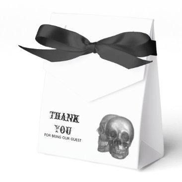 Wedding Themed Gothic Skulls Favor Box