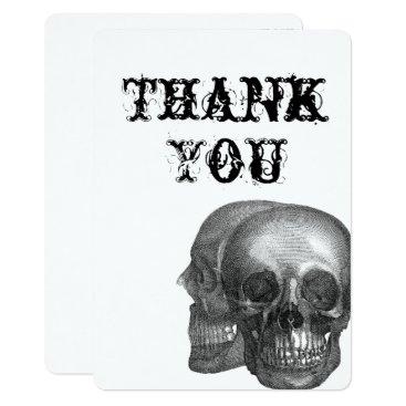 Wedding Themed Gothic Skulls Thank You card