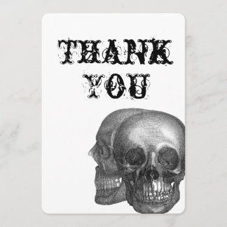 Gothic Skulls Thank You card