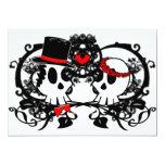 "Gothic Skulls Wedding Invitation 5"" X 7"" Invitation Card"