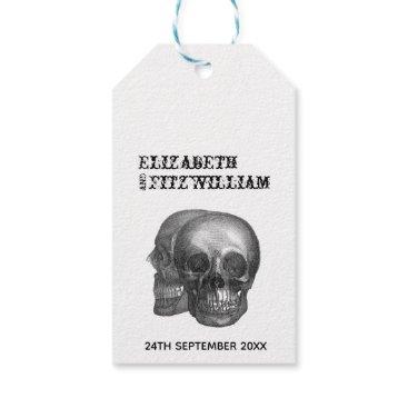 Wedding Themed Gothic Skulls Wedding Invitation Tag