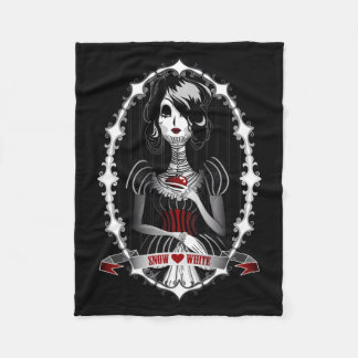 Gothic Snow White Fleece Blanket