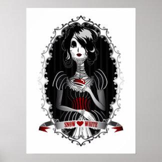 Gothic Snow White Print