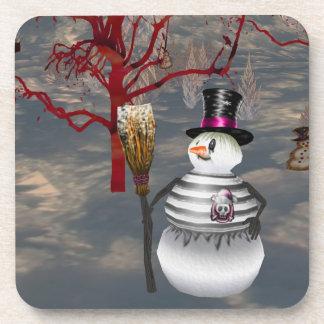 Gothic Snowman Coasters