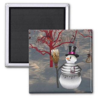 Gothic Snowman Magnet