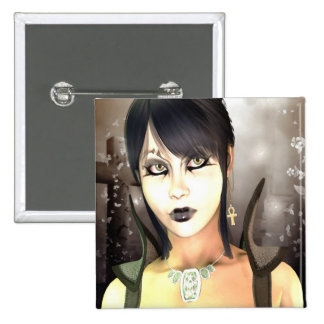 Gothic Sorceress 2 Inch Square Button