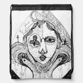 Gothic Spade Drawstring Backpack