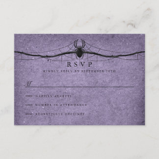 Gothic Spider Halloween Wedding RSVP