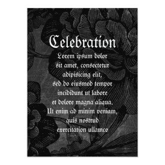 Gothic Spider On Flower 6.5x8.75 Paper Invitation Card