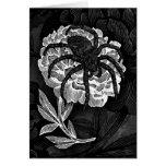 Gothic Spider On Flower Card