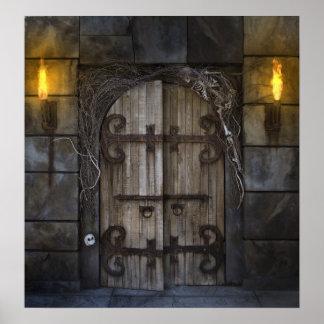 Gothic Spooky Door Poster