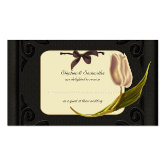 Gothic Spring Wedding Table Place Cards