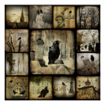 Gothic Squares Poster