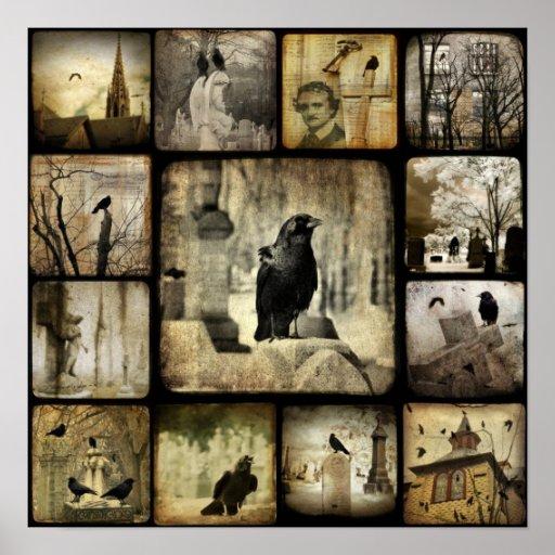 Gothic Squares Poster