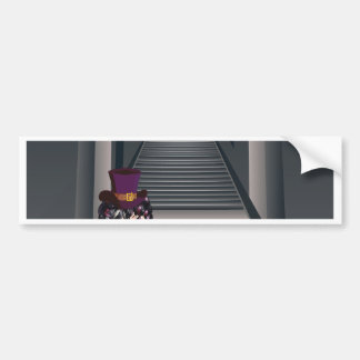 Gothic Stairs and Witch5.jpg Car Bumper Sticker