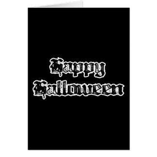 Gothic Stamp Happy Halloween Card