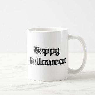 Gothic Stamp Happy Halloween Classic White Coffee Mug