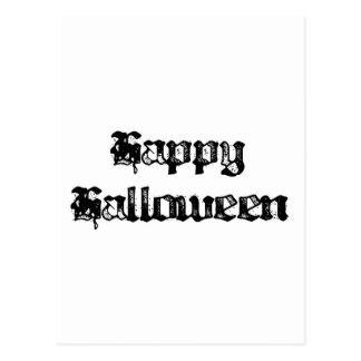 Gothic Stamp Happy Halloween Postcard