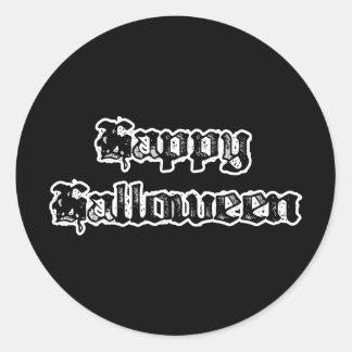 Gothic Stamp Happy Halloween Stickers