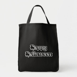 Gothic Stamp Happy Halloween Tote Bag