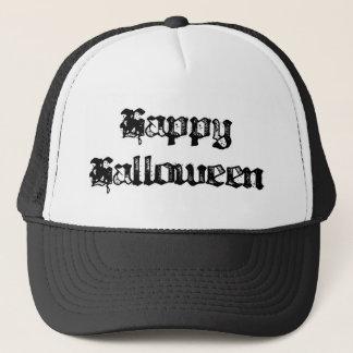 Gothic Stamp Happy Halloween Trucker Hat