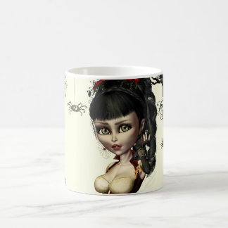 Gothic Steampunk Lolita Art Round Button Pin Coffee Mug