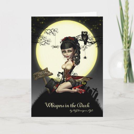 Gothic Steampunk Lolita Blank Note Card