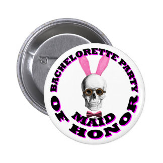 Gothic Steampunk maid of honor Pinback Button