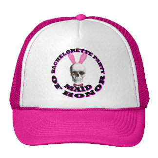 Gothic steampunk maid of honor trucker hat