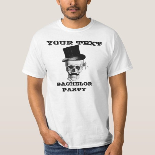 Gothic steampunk skull bachelor party T-Shirt