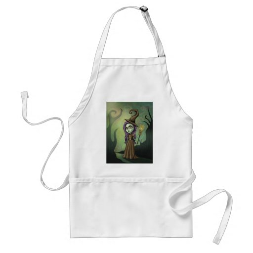 Gothic Steampunk Witch Adult Apron