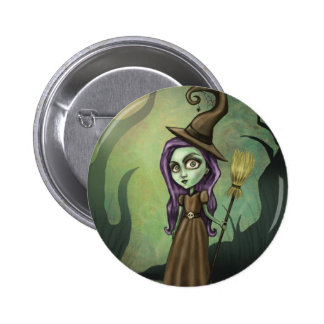 Gothic Steampunk Witch Buttons
