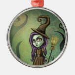 Gothic Steampunk Witch Christmas Tree Ornaments