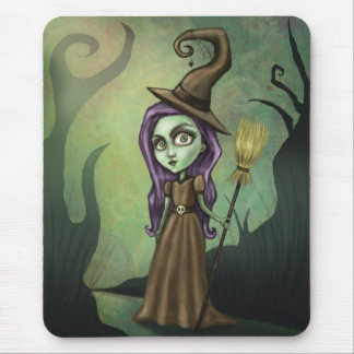 Gothic Steampunk Witch Mouse Pad