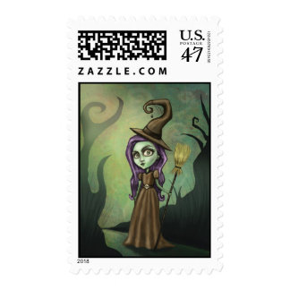 Gothic Steampunk Witch Postage
