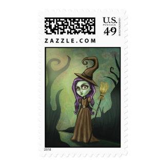 Gothic Steampunk Witch Stamp