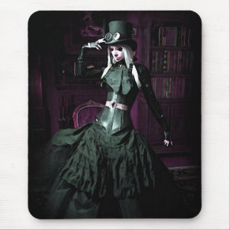 Gothic Steampunk Woman Mouse Pad