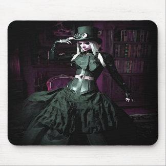 Gothic Steampunk Woman Mousepad