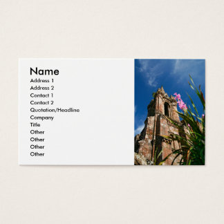 Gothic style chapel business card