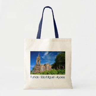 Gothic style chapel in Azores Canvas Bag