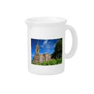 Gothic style chapel in Azores Beverage Pitchers