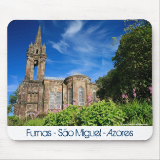 Gothic style chapel in Azores Mouse Pad
