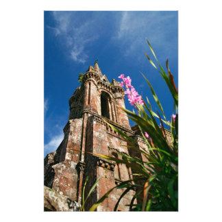 Gothic style chapel photo print