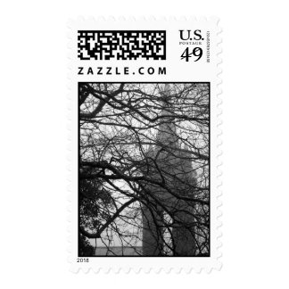 Gothic style chapel postage stamps