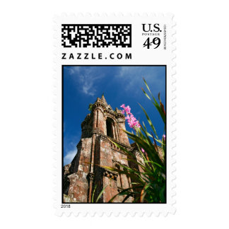Gothic style chapel postage stamp